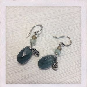 Silpada Smoky Quartz & Silver Earrings